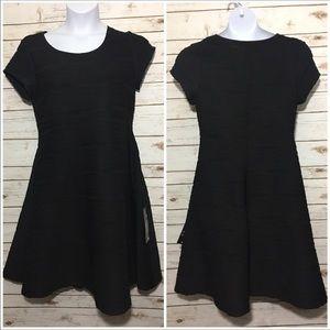 AVENUE black textured dress